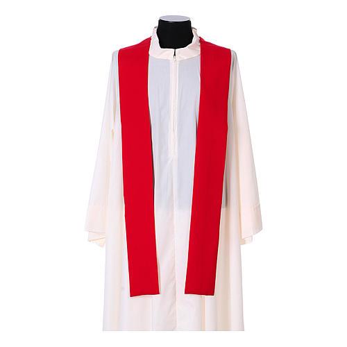 Chasuble bande avant arrière tissu Vatican 100% polyester 14