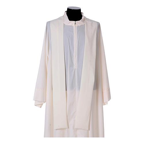 Chasuble bande avant arrière tissu Vatican 100% polyester 15