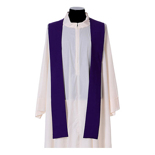 Chasuble bande avant arrière tissu Vatican 100% polyester 17