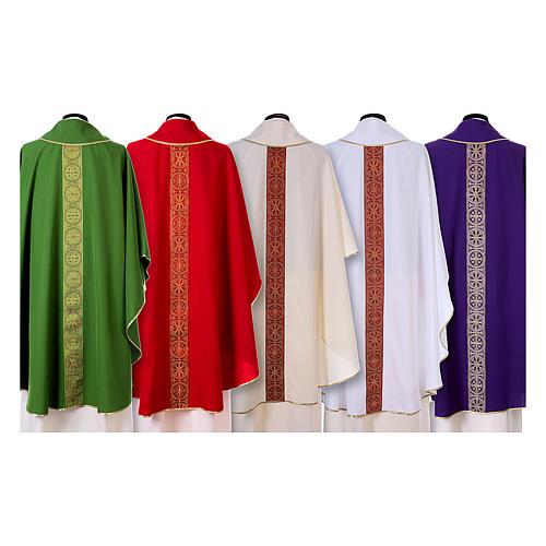 Casula gallone davanti dietro tessuto Vatican 100% poliestere 2