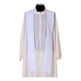 Priest Chasuble with front and back gold orphrey in Vatican fabric, 100% polyester s16