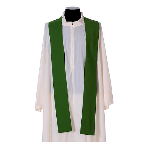 Priest Chasuble with front and back gold orphrey in Vatican fabric, 100% polyester 13