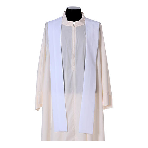 Priest Chasuble with front and back gold orphrey in Vatican fabric, 100% polyester 16