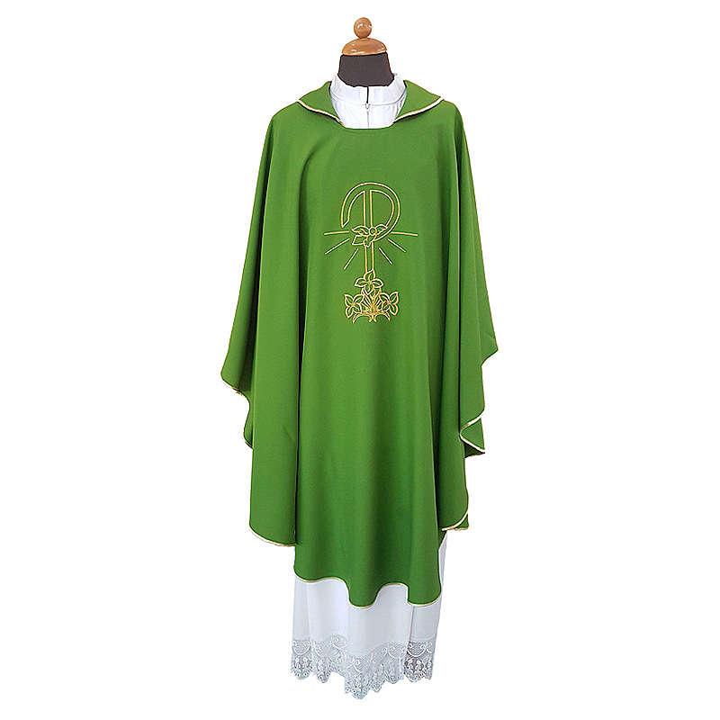 Casula ricamo Pace Gigli fronte retro tessuto Vatican 100% poliestere 4