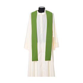 Chasuble broderie croix fleur avant arrière tissu Vatican 100% polyester s8