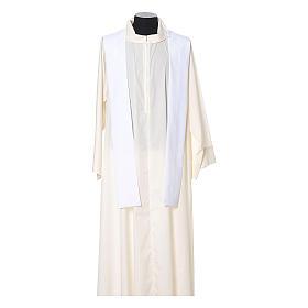 Chasuble broderie croix fleur avant arrière tissu Vatican 100% polyester s10