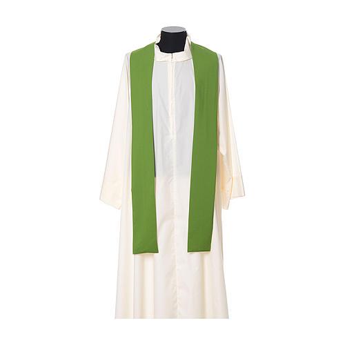 Casula bordado cruz flor ambos lados tecido Vatican 100% poliéster 8