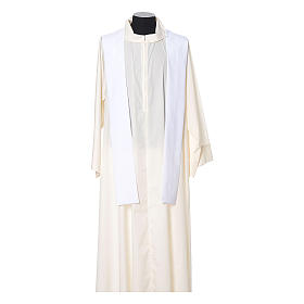 Catholic Priest Chasuble with cross and flower embroidered on front and back, Vatican fabric s10