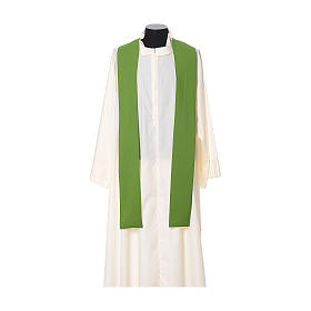 Chasuble with cross embroidered on front and back, ultra lightweight Vatican fabric s8