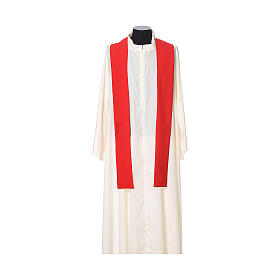 Chasuble with cross embroidered on front and back, ultra lightweight Vatican fabric s9