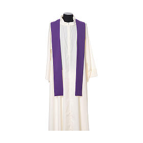 Chasuble with cross embroidered on front and back, ultra lightweight Vatican fabric s12
