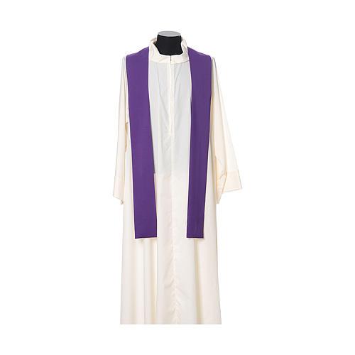 Casulla tejido super liviano Vatican poliéster bordado cruz delante detrás 12