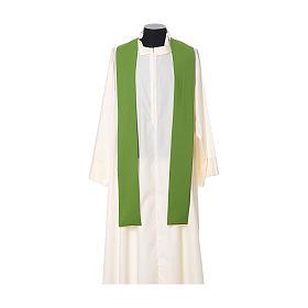 Casula tecido leve Vatican poliéster bordado cruz ambos lados s8