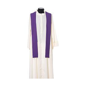 Casula tecido leve Vatican poliéster bordado cruz ambos lados s12