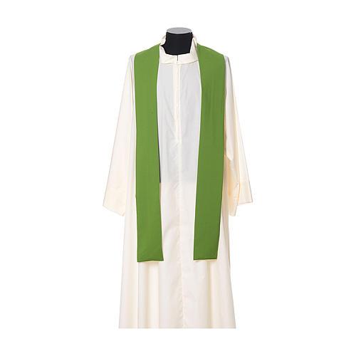 Casula tecido leve Vatican poliéster bordado cruz ambos lados 8