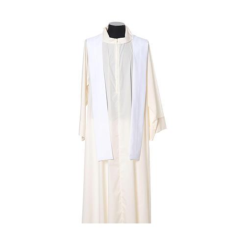 Casula tecido leve Vatican poliéster bordado cruz ambos lados 11