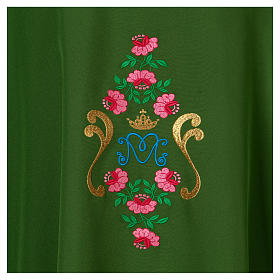 Marian Chasuble with embroidered roses on both sides, Vatican fabric, 100% polyester s2