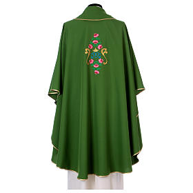 Marian Chasuble with embroidered roses on both sides, Vatican fabric, 100% polyester s3
