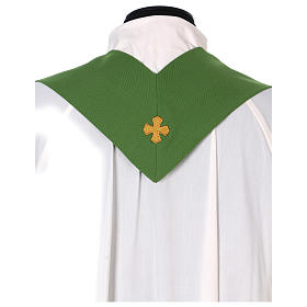 Marian Chasuble with embroidered roses on both sides, Vatican fabric, 100% polyester s5