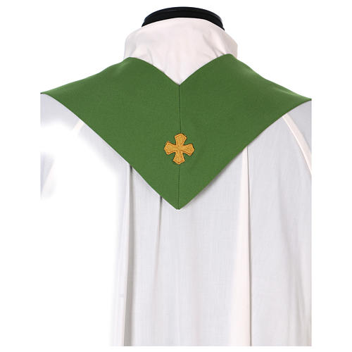 Marian Chasuble with embroidered roses on both sides, Vatican fabric, 100% polyester 5