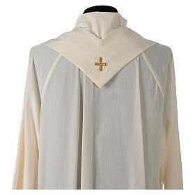 Casula tessuto Vatican poliestere 100% ricamo rose davanti dietro s6