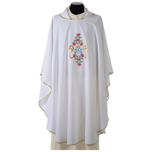 Casula tessuto Vatican poliestere 100% ricamo rose davanti dietro 7