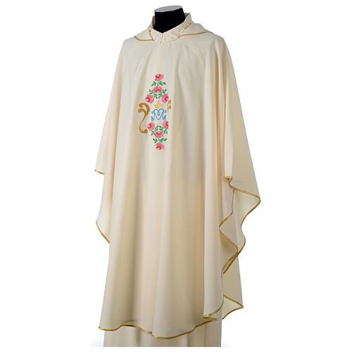 Casula tessuto Vatican poliestere 100% ricamo rose davanti dietro 3