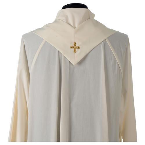 Casula tessuto Vatican poliestere 100% ricamo rose davanti dietro 6