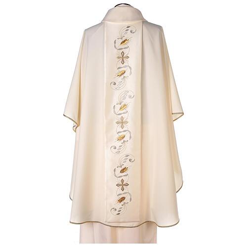 Chasuble étole satin coton broderie avant arrière 100% polyester Vatican 5