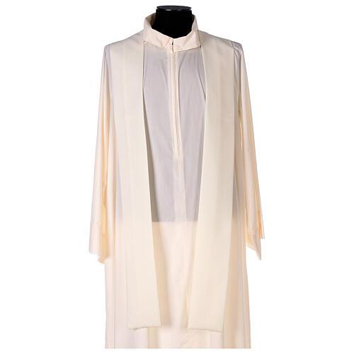 Chasuble étole satin coton broderie avant arrière 100% polyester Vatican 6