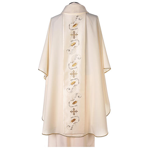Monastic Chasuble with satin orphrey on front and back in Vatican fabric 5