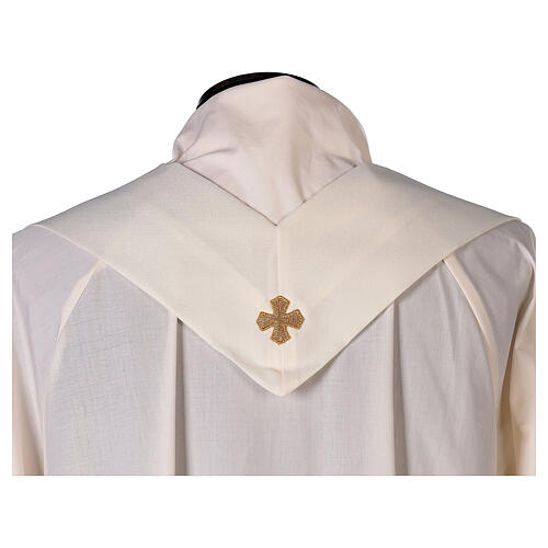 Monastic Chasuble with satin orphrey on front and back in Vatican fabric 7