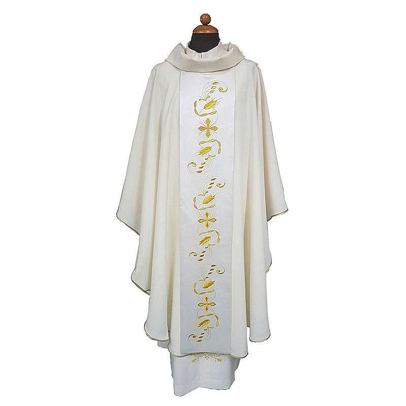 Casula tessuto Vatican leggero pol. stolone raso di cotone davanti dietro 4
