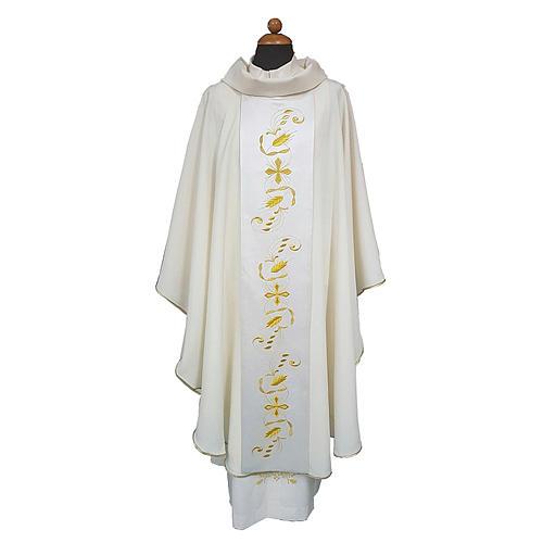 Casula tessuto Vatican leggero pol. stolone raso di cotone davanti dietro 1