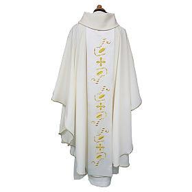 Casula tecido Vatican leve poliéster galão cetim de algodão ambos lados s2