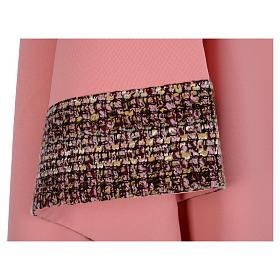 Casula cor-de-rosa 100% poliéster bandas aplicadas tecido cruz bordada s5