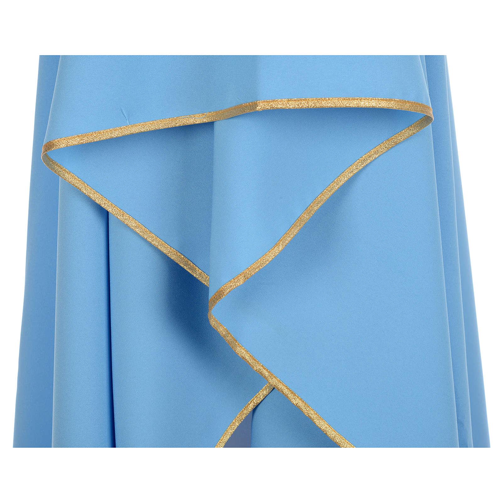 Azurblaue Kasel 100% blanker Polyester XP 4