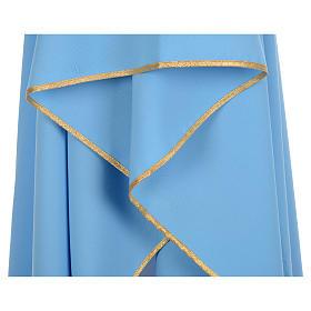 Azurblaue Kasel 100% blanker Polyester XP s4