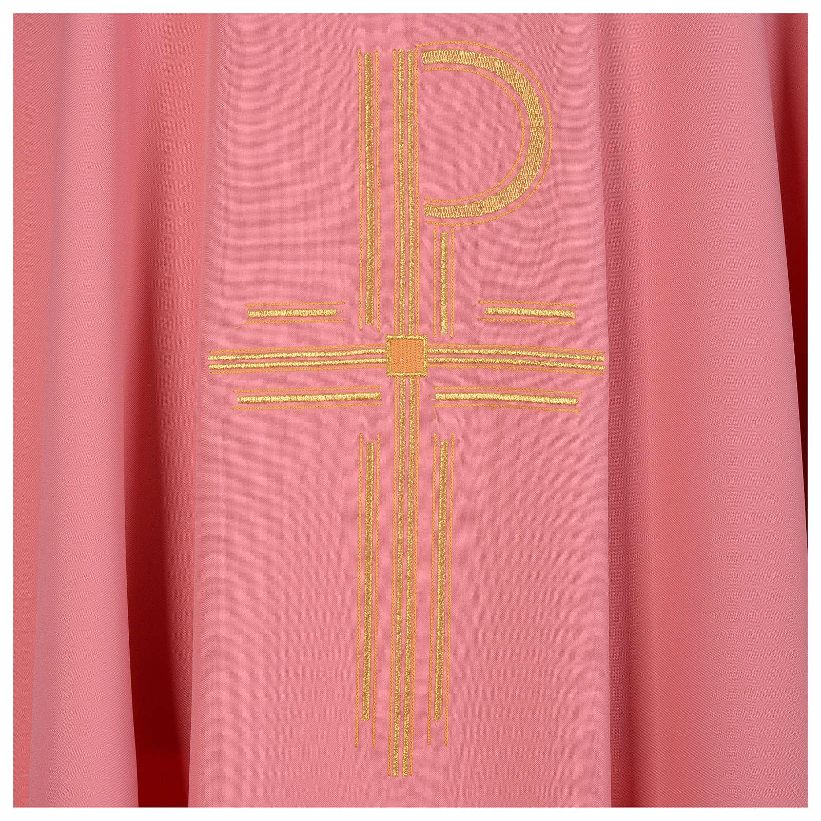 Casulla rosa 100% poliéster brillante XP<br> 4