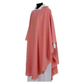 Casulla rosa 100% poliéster brillante XP<br> s2