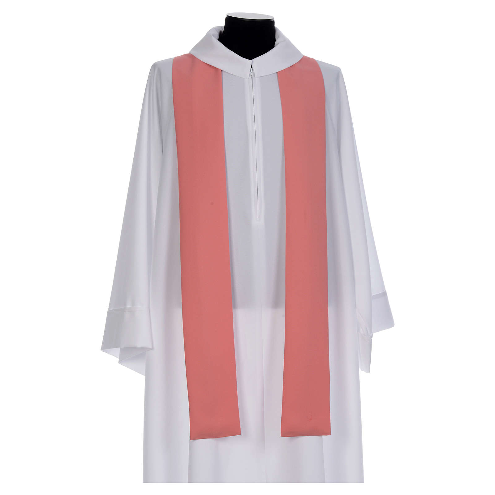 Chasuble rose 100% polyester brillant Chi-Rho 4