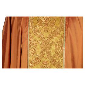 Casula sacerdotale seta oro 100% ricamo dorato s4