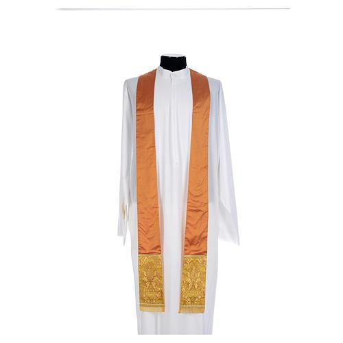 Casula sacerdotale seta oro 100% ricamo dorato 6