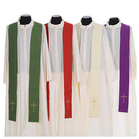 Catholic Priest Chasuble with central IHS and crosses s7