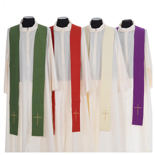 Catholic Priest Chasuble with central IHS and crosses 7