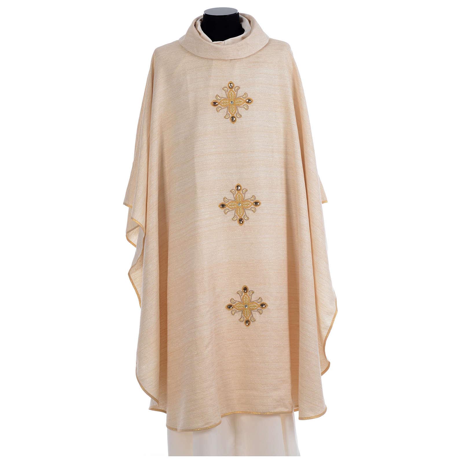 Chasuble en dégradé avec croix en fil doré brodées 4