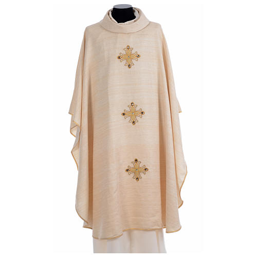 Catholic Chasuble Embroidered with Crosses 5