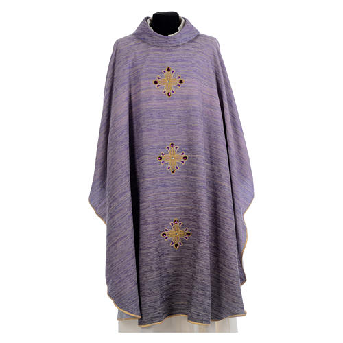 Catholic Chasuble Embroidered with Crosses 6