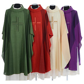 Chasuble embroidered with stylized cross s1