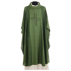 Chasuble embroidered with stylized cross s3